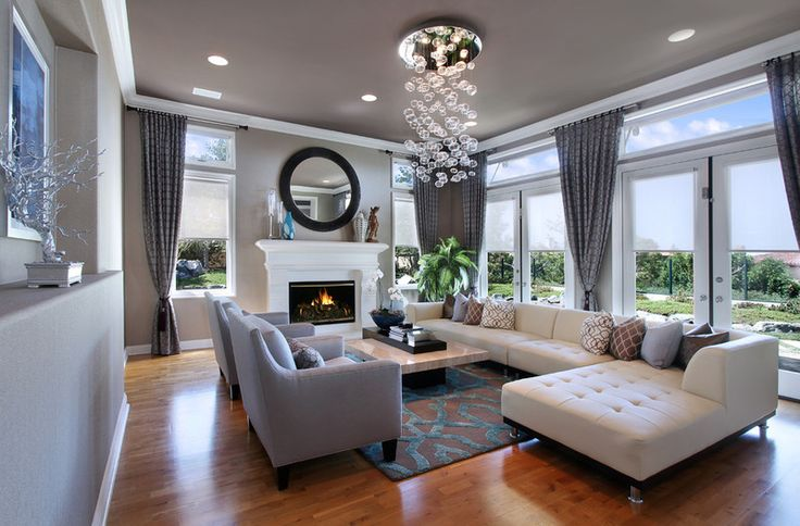 simple opulence living room design
