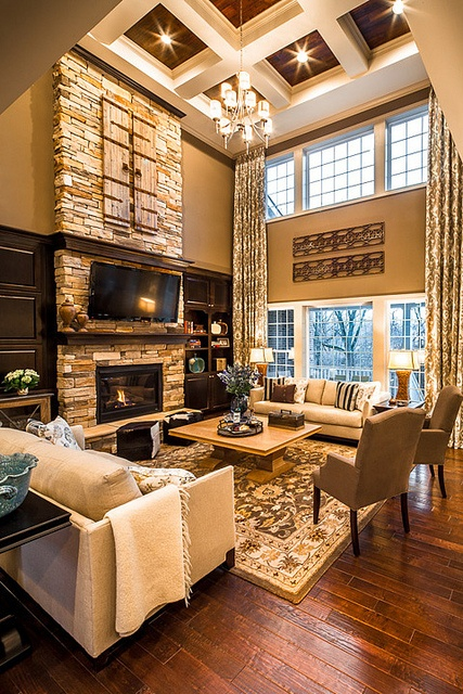 upscale two storey living room