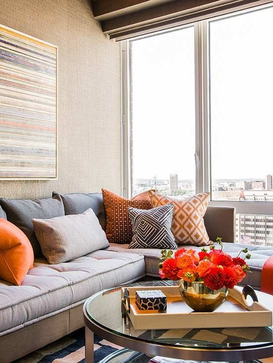 chic city apartment living room