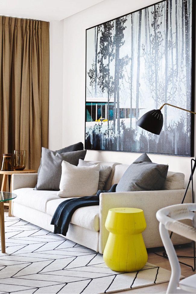 modern artisan's living room
