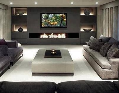 Superior Modern Symmetrical Living Room