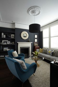 dramatic colours for living room