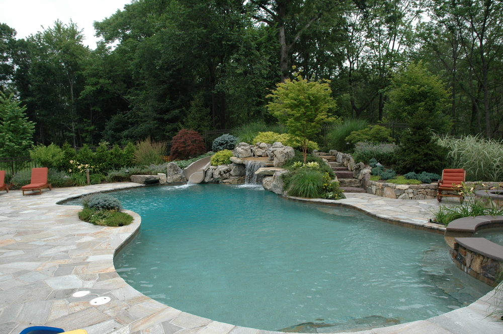 Backyard Pool Designs With Slides To Irregular Shaped Natural Pool 40 Fantastic Outdoor Ideas u2014 Renoguide Australian Renovation