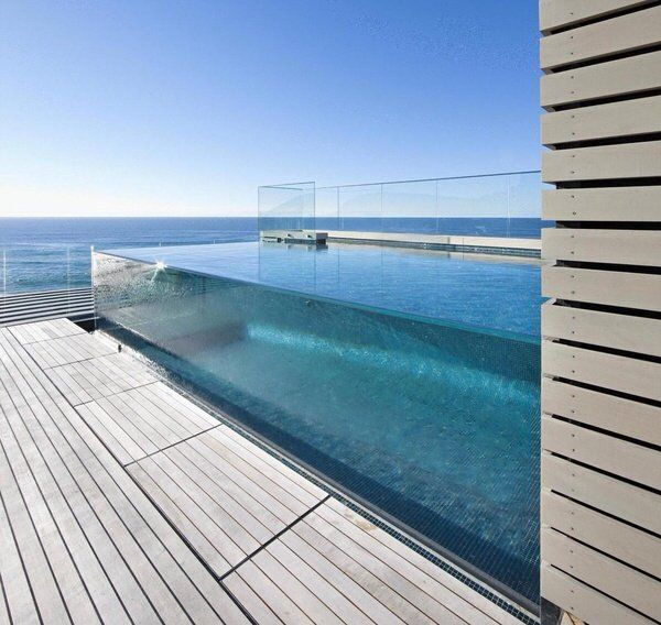 glass prism pool