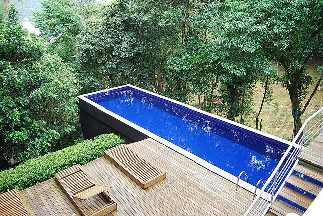 Hill side pool