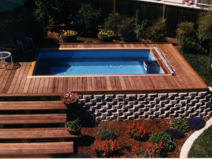 40 fantastic outdoor pool ideas renoguide - Above ground composite pool deck ...