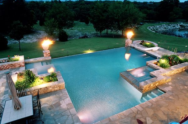 modern Aztec pool design