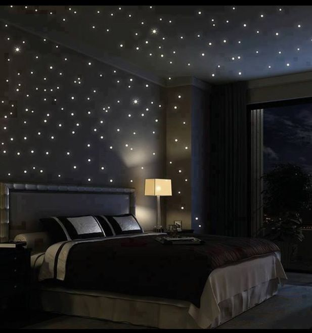 starry ceiling bedroom