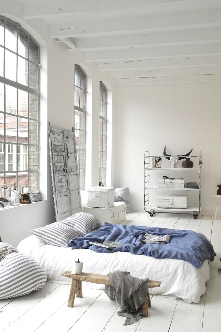 White Urban Bedroom