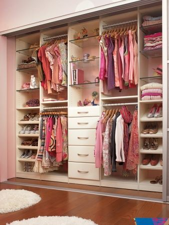 organized closet for teenagers