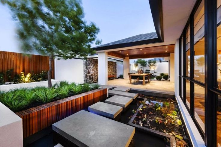 50 modern front yard designs and ideas renoguide for Front garden designs perth