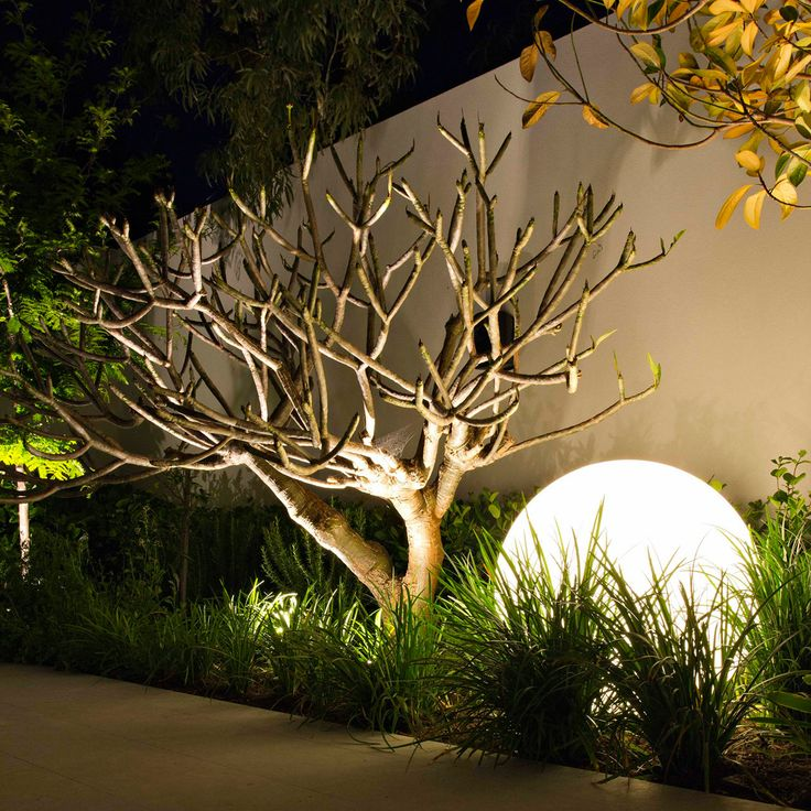 large round garden lighting
