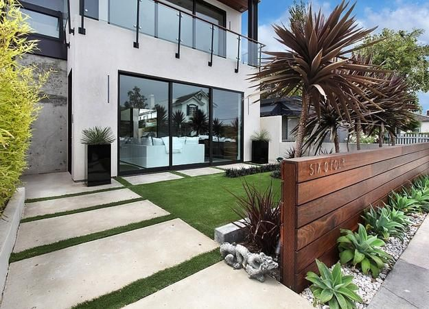 50 modern front yard designs and ideas renoguide australian rh renoguide com au modern house garden ideas modern home landscape ideas