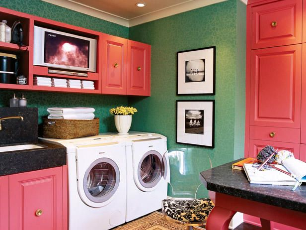 bold spring laundry room