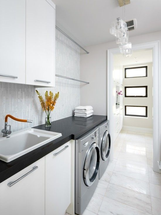 classic elegant white laundry - Laundry Design Ideas
