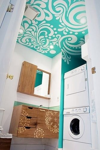aqua boho ceiling feature