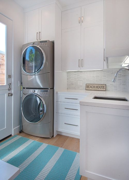 well lighted beach house laundry