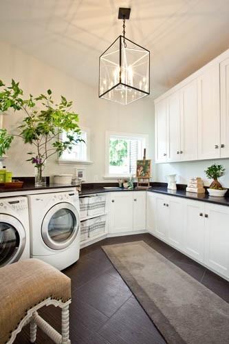 upscale elegant laundry design