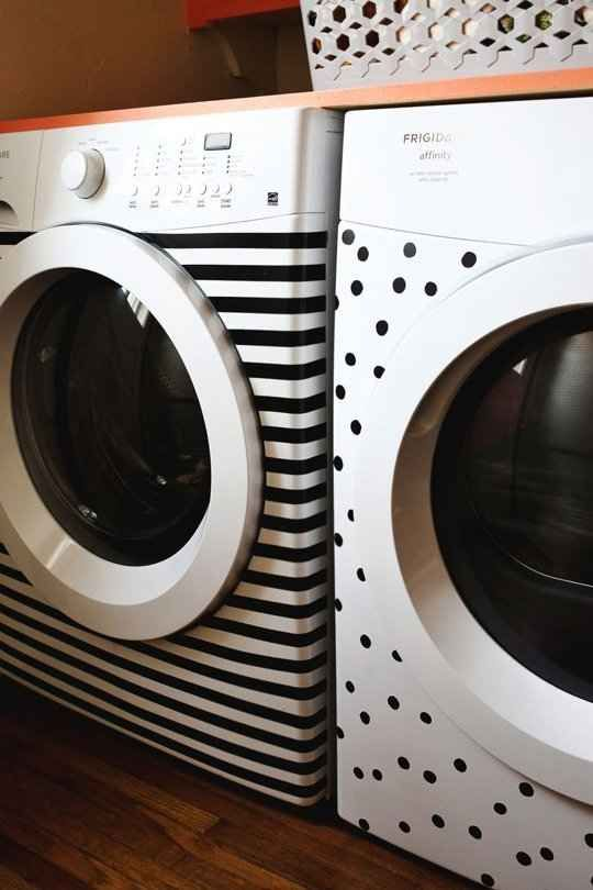 decorated laundry machines