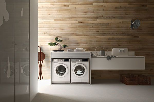 zen inspired laundry room