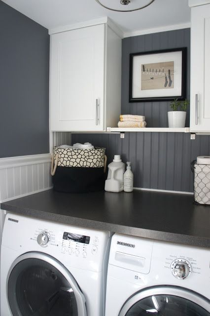 compact laundry nook
