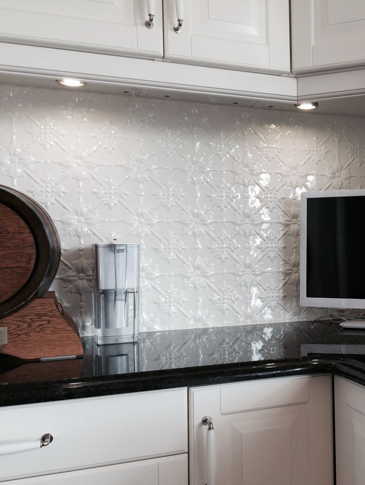Amazing Kitchen Splashback Tiles Ideas Part - 4: Pressed Metal Splashback