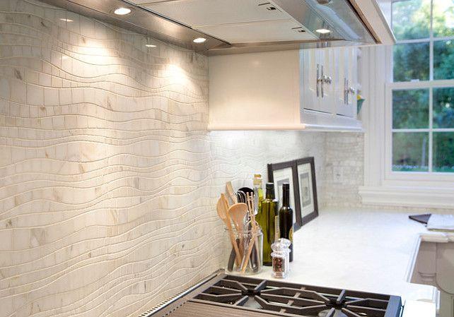 calacatta marble mosaic splashback