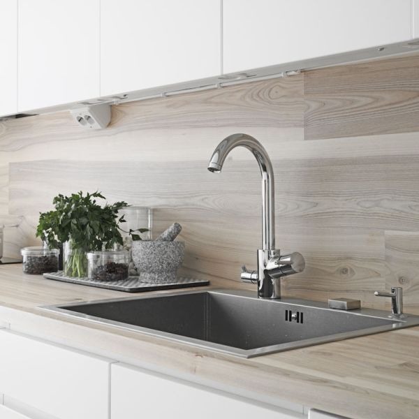 40 sensational kitchen splashbacks renoguide for Sink splashback ideas