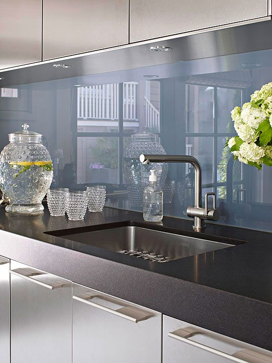 Metallic Kitchen Doors