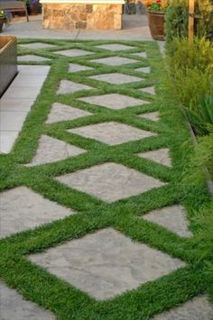 diamond garden pavers