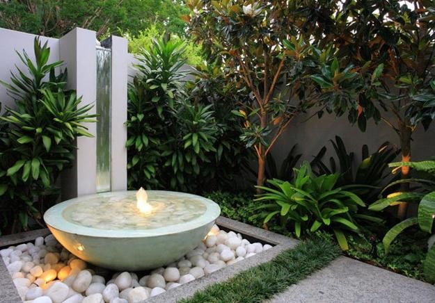 Zen garden water feature