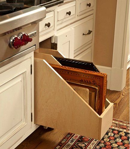 kitchen slide out file organiser