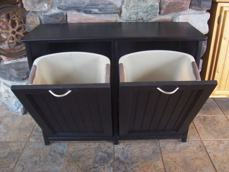 tilt out kitchen trash cabinet