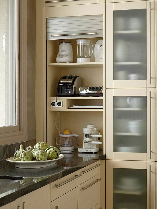 space saving kitchen cabinets with pull up doors