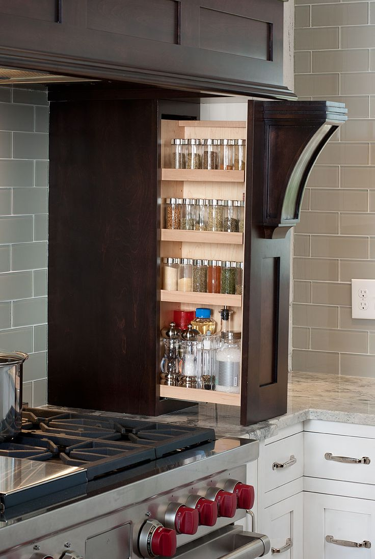 hidden spice rack storage
