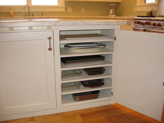 flat stacking kitchen cabinet