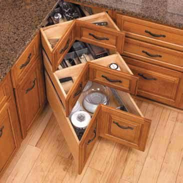 Rustic Kitchen Cabinet Corner Drawers