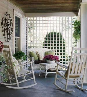 cosy verandah with white trellis