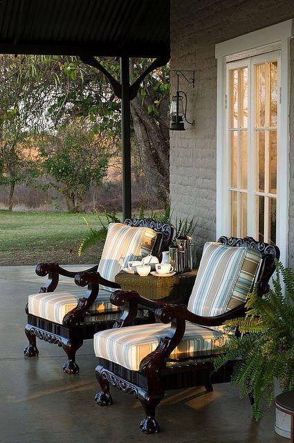 verandah with Victorian seats