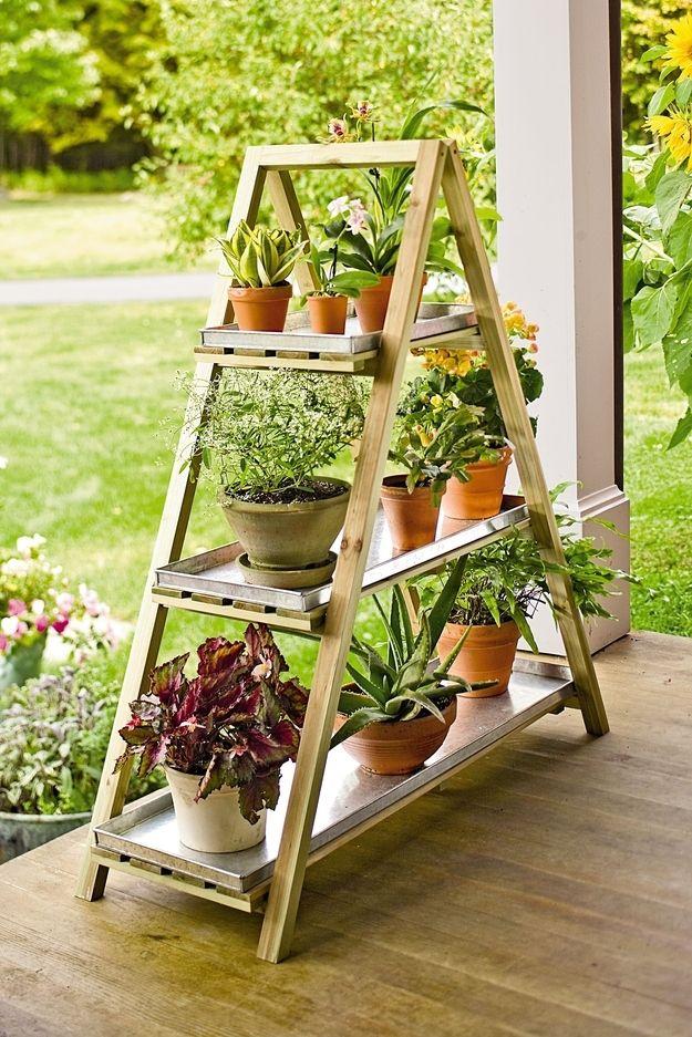 A-frame planter stand