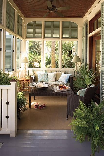 cosy verandah with window shutters