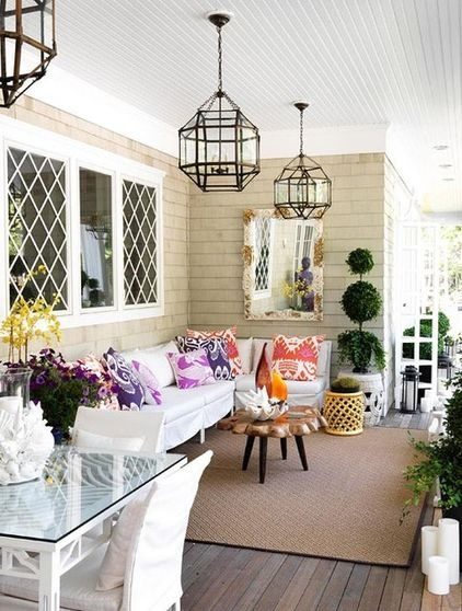 French country style verandah