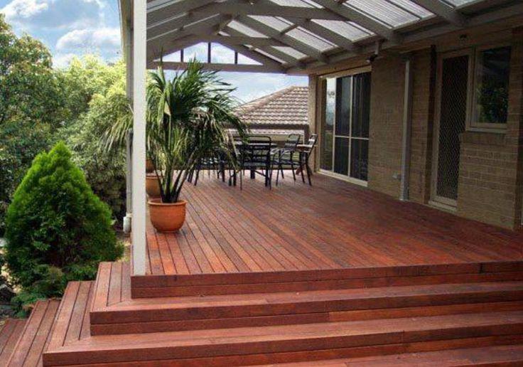 rustic modern verandah