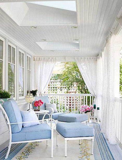 elegant white and blue verandah