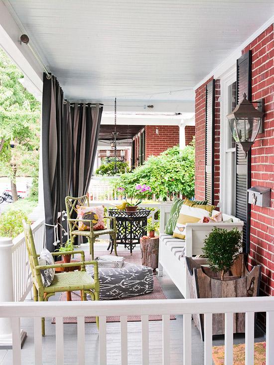 cosy verandah with curtains