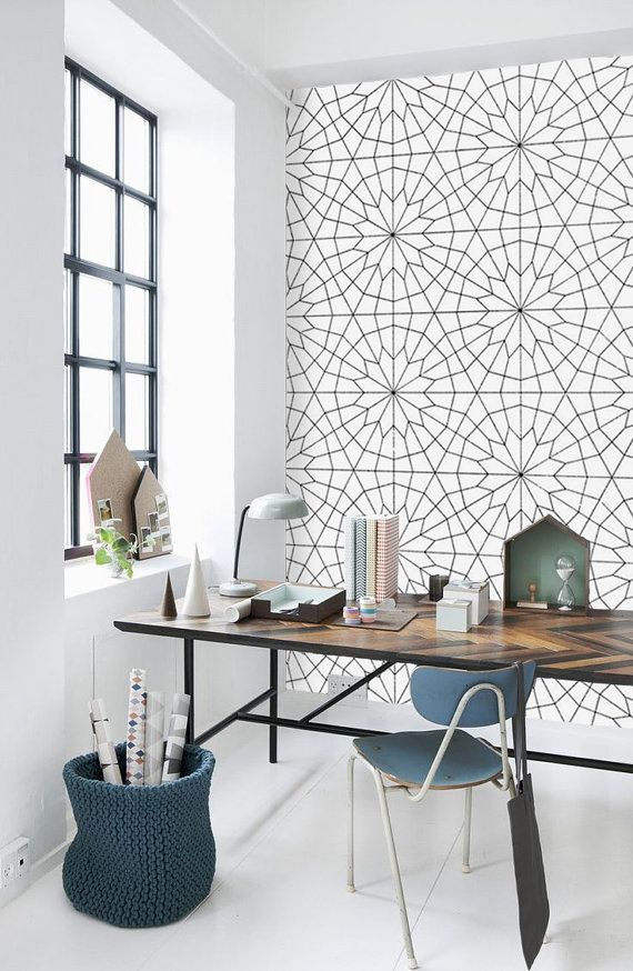 geometric ceramic tile wall
