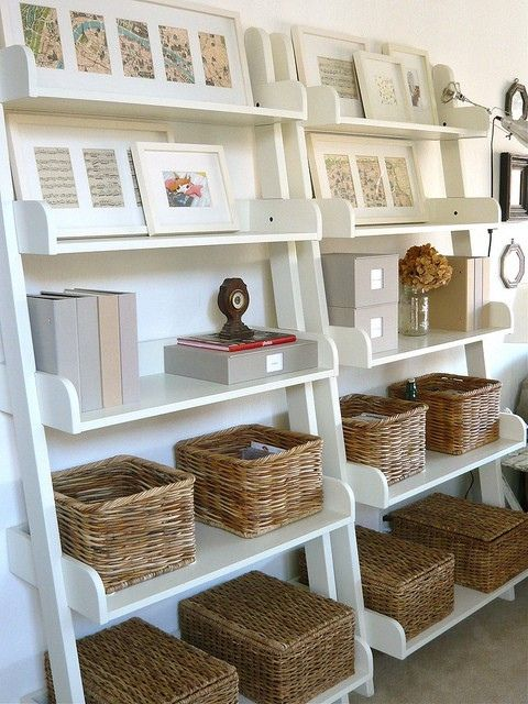 straw baskets for office storage
