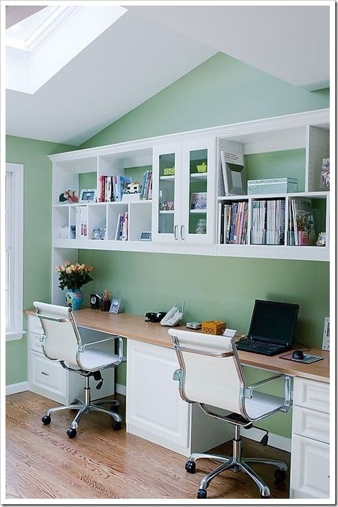 Cool Green Tandem Office Design