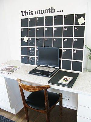 calendar chalkboard wall