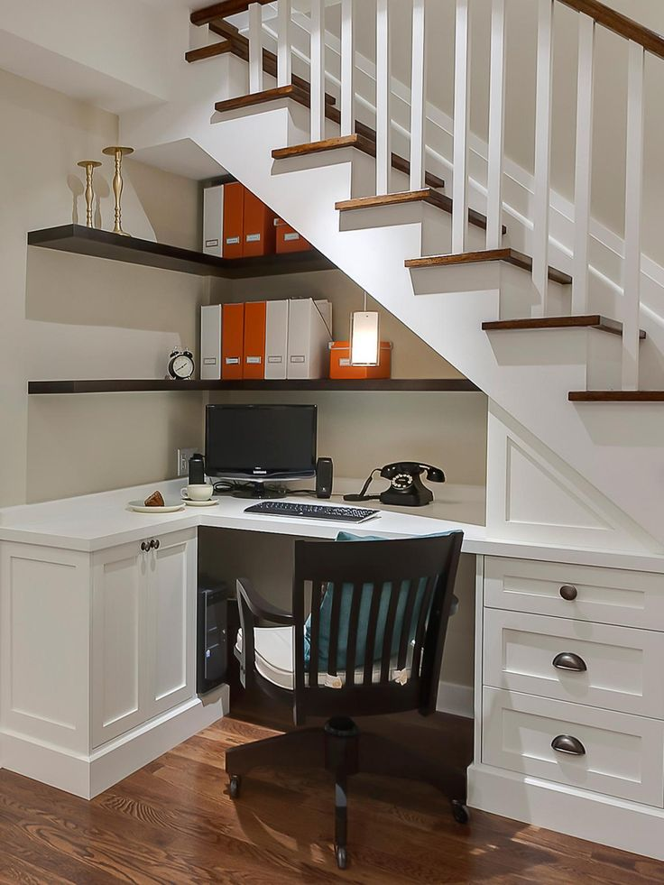 under the stairs home office